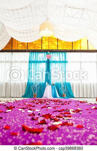 beautiful wedding ceremony - csp39868360