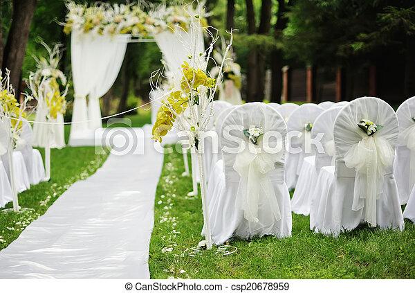 Beautiful wedding ceremony - csp20678959
