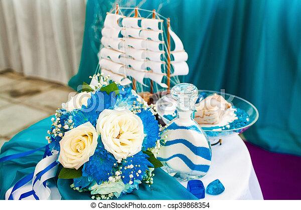 beautiful wedding ceremony - csp39868354