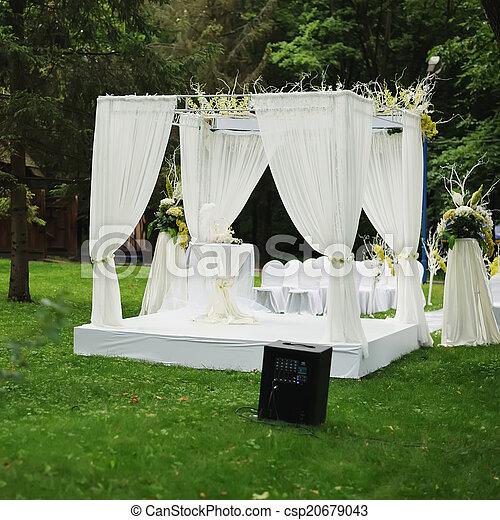 Beautiful wedding ceremony - csp20679043