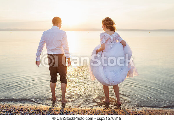 Beautiful wedding couple - csp31576319