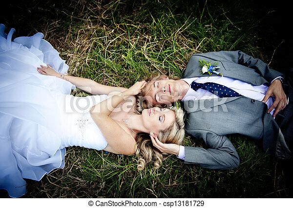 Beautiful wedding couple - csp13181729