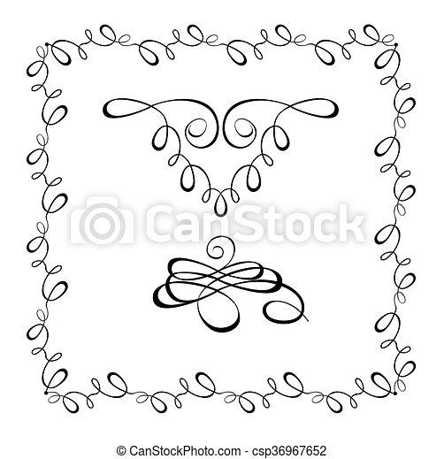 Beautiful wedding design - csp36967652