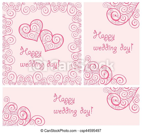 Beautiful wedding design - csp44595497