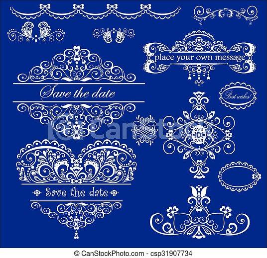 Beautiful wedding design - csp31907734