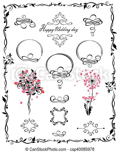 Beautiful wedding design - csp40085978