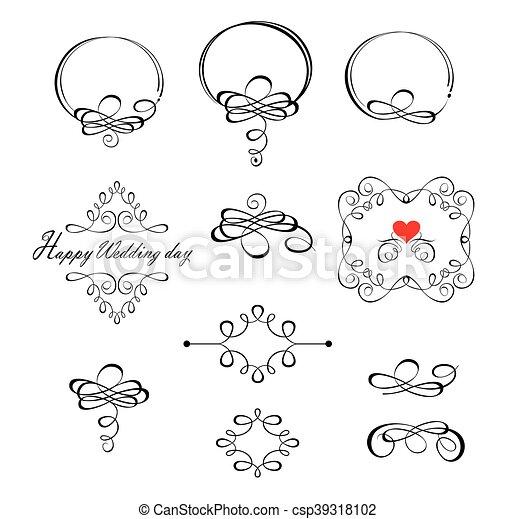 Beautiful wedding design - csp39318102