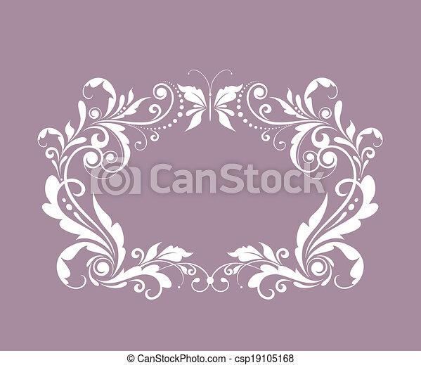 Beautiful wedding frame - csp19105168