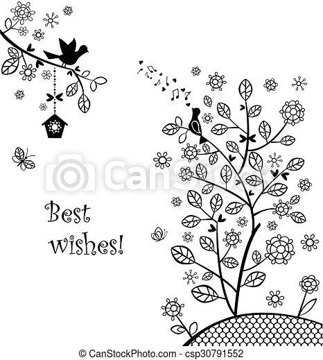Beautiful wedding greeting - csp30791552