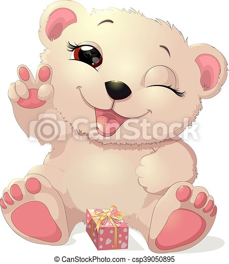 beautiful white bear - csp39050895
