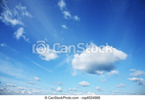 Beautiful white clouds over blue sky - csp6504968