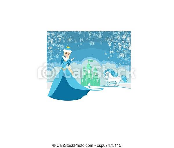 Beautiful winter princess - csp67475115