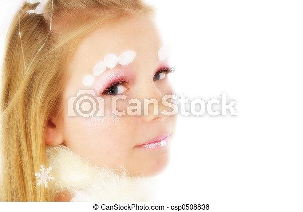Beautiful Winter Tween Woman In Make Up Canstock