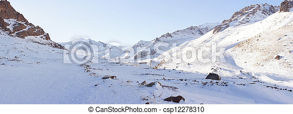 Beautiful winter view of the mountains - csp12278310