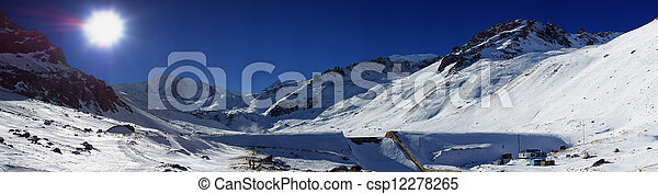 Beautiful winter view of the mountains - csp12278265