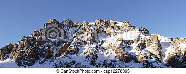 Beautiful winter view of the mountains - csp12278395