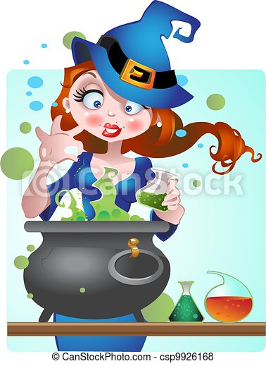 beautiful Witch with copper of poi - csp9926168