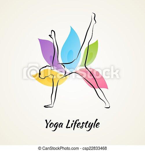 Beautiful woman doing yoga - csp22833468