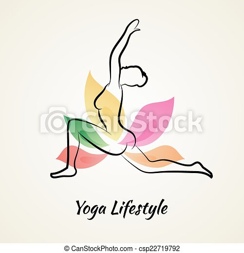 Beautiful woman doing yoga - csp22719792