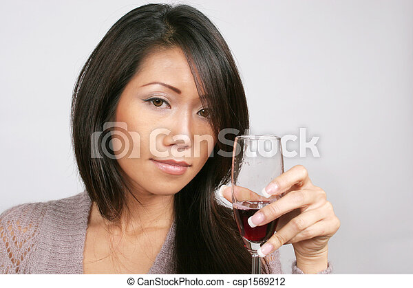 Picture asian woman wine — img 6