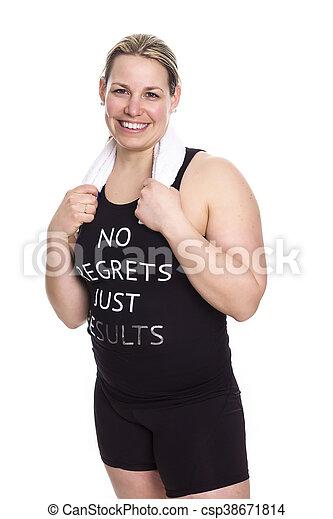 Beautiful  woman exercising - csp38671814