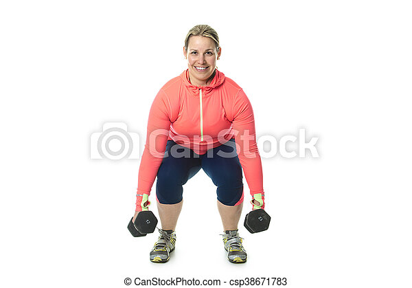Beautiful  woman exercising - csp38671783