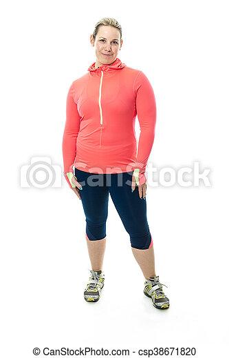 Beautiful  woman exercising - csp38671820