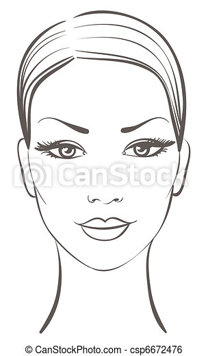 beautiful woman face - csp6672476