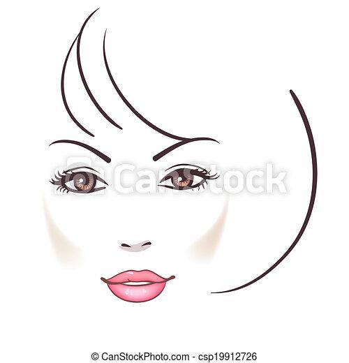 Beautiful woman face  - csp19912726