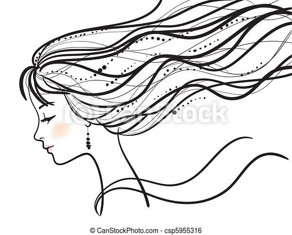beautiful woman face - csp5955316