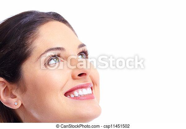 Beautiful woman face. - csp11451502