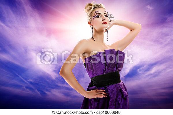 Beautiful woman glamour potrait - csp10606848