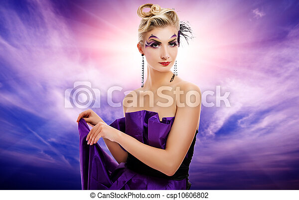 Beautiful woman glamour potrait - csp10606802