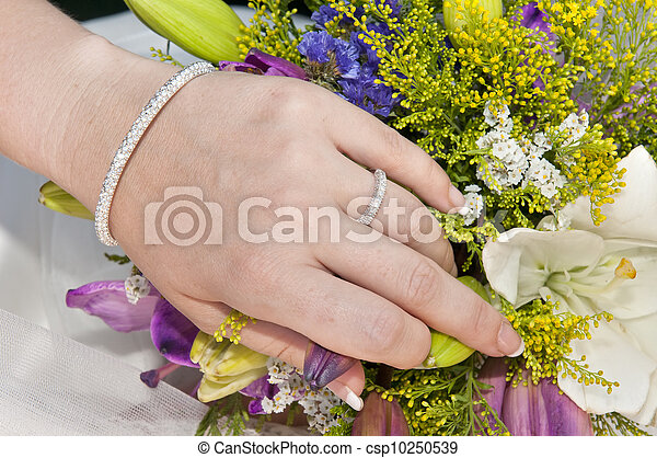 beautiful woman hand - csp10250539