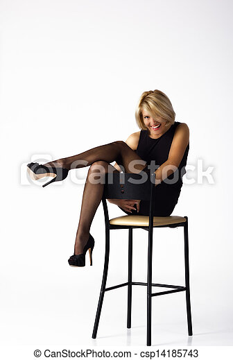 Women in black stockings