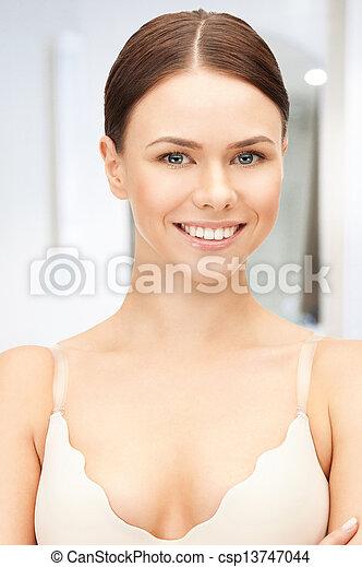 beautiful woman in bra - csp13747044