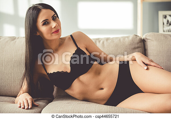 Stupendous Beautiful Woman In Lingerie At Home Uwap Interior Chair Design Uwaporg