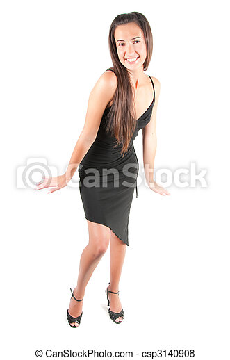 Beautiful woman in studio - csp3140908