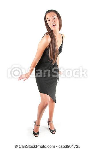 Beautiful woman in studio - csp3904735