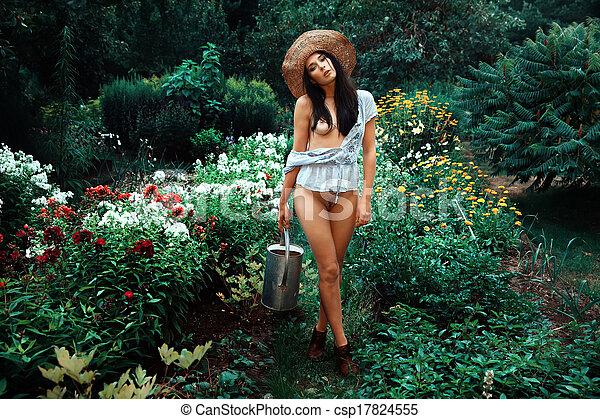 You very Sexy nude women garden not