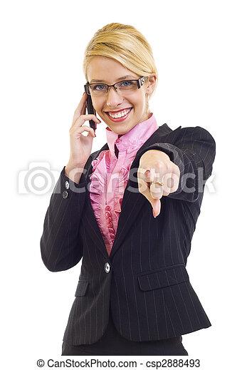 beautiful woman on mobile phone - csp2888493