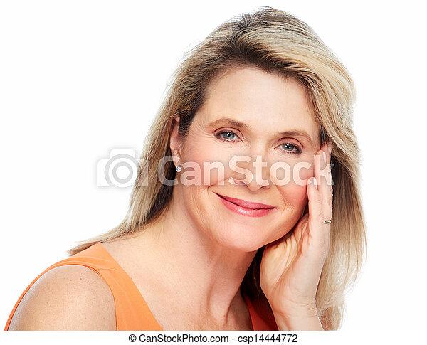 Beautiful woman portrait. - csp14444772