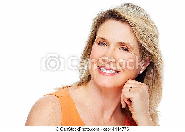 Beautiful woman portrait. - csp14444776