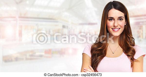 Beautiful woman portrait. - csp32456473
