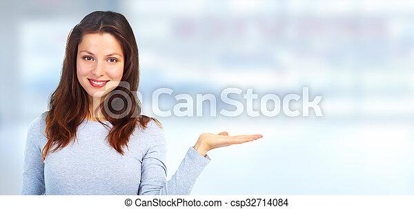 Beautiful woman portrait. - csp32714084
