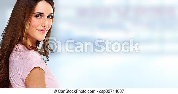 Beautiful woman portrait. - csp32714087