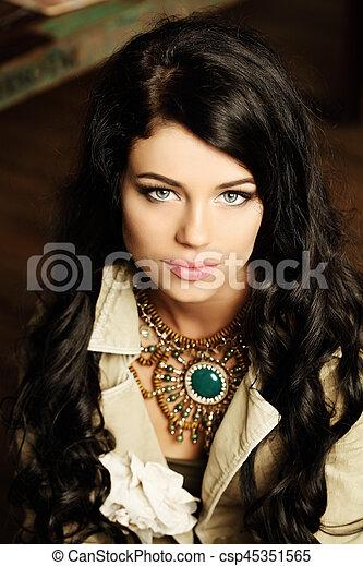 Beautiful woman, portrait - csp45351565