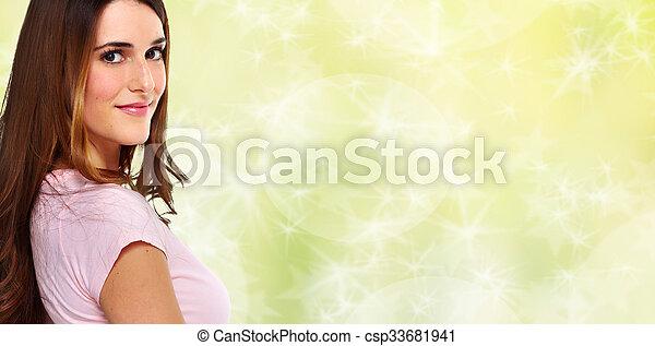 Beautiful woman portrait. - csp33681941