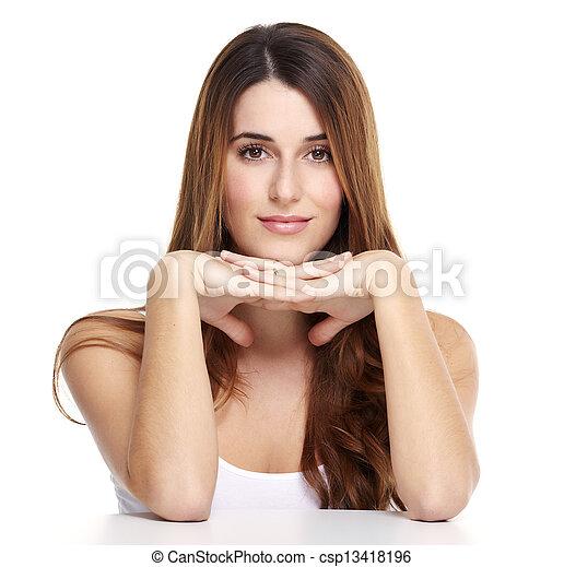 Beautiful woman portrait. - csp13418196