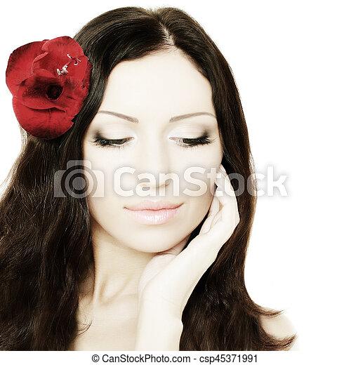 Beautiful woman, portrait - csp45371991